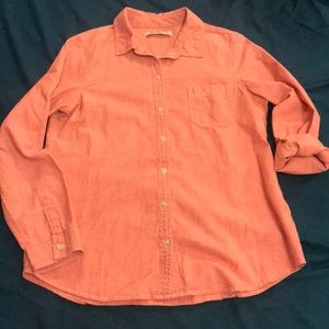 Coral Button Down Shirt